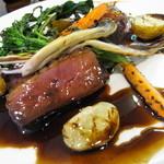 オステリア チロ - フランス産鴨のバルサミコ煮        イタリアの野菜と北海道産じゃがいも添え