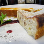 オステリア チロ - パルメザンチーズとヘーゼルナッツのケーキ