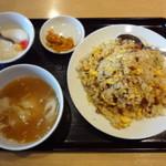 Tokikaisenhinabesaikan - 叉焼炒飯+云呑湯(チャーシュー炒飯+ワンタンスープ)