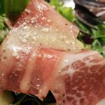 プチレストラン 雅司亭 - イタリア産パルマハムのサラダ