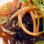 プチレストラン 雅司亭 - 北海道産牛頬肉の煮込み きんぴらごぼうのオレンジ風味