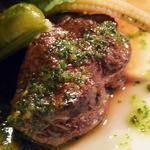 プチレストラン 雅司亭 - 広島牛ヒレ肉のソテー バジルソース