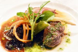 プチレストラン 雅司亭 - 鴨肉のロースト 北海道産牛頬肉の煮込み きんぴらごぼうのオレンジ風味 広島牛ヒレ肉のソテー バジルソース