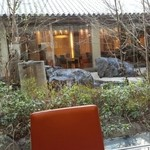 daininguryuu - 庭が見える席に案内してもらいました