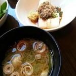 daininguryuu - 湯豆腐&味噌汁