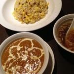 アジアン食堂 - チャーハン、キーマカレー