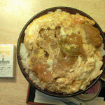 レストハウス舞子 - カツ丼特上・大盛(上から)
