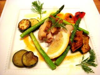 森のレストラン ライアン 青森空港店 - 鶏と野菜の炙りも美味しかったです