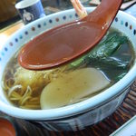 たつた屋 - 天ぷらそばのスープ