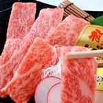 白肉屋 - 料理写真:特選牛!!飛騨牛などの特選牛を用意しています!また、大トロカルビ(黒毛和牛使用)が新登場!!780円で脂好きには堪りません♪