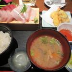 河岸番外地 梅田店 - 番外地定食 1100円
