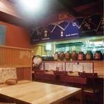 炭焼厨房 笑○ - カウンター、テーブル、掘りごたつ席あり