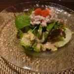朱藏 - 蟹とアボガドのサラダ