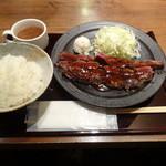 魚貝バル 弐番 - 牛グリルステーキランチ 1.5枚270g980円