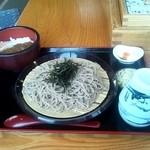 旅の駅 日光ろばたづけ - ざるそば竹セット☆ミニカレー丼☆1180円(2013/4)