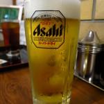 えき缶酒場 - 生ビール(中)390円