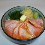 小樽ポセイ丼 - サーモンバター丼 500円