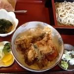 おそばの鈴穂 - 料理写真:アナゴ天丼と蕎麦ぼセット1000円
