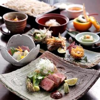 接待にも最適!極上食材を盛り込んだ松コースは9050円で!