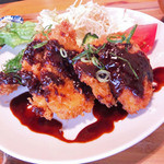 マゴコロ - 新みそとりカツ定食(800円)
