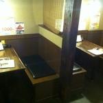 八庄屋 - 個室風のテーブル席
