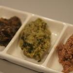 18214997 - いかのすみ煮、牡蠣ペーストほうれん草入り、レバーパテ。
