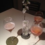 18216318 - 桜の季節にロゼシャンパン