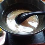 とんちゃんラーメン - 定食のスープ