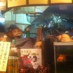居酒屋 大ちゃん - 貝殻、七福神、金魚鉢、震災募金の案内、、、