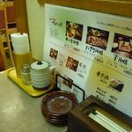 麺屋 かんじん堂 - 卓上には・・