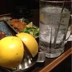 居酒屋北の満月 - 料理写真:生グレープフルーツサワー