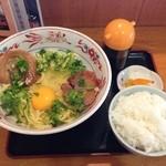 18225342 - ココいち 釜玉ラーメン+ライス(小)