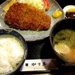かま屋 - 豚ロースカツ定食!(2013,04/02)