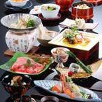 びわ湖花街道 - 料理写真:月替わり京会席