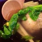 前菜坊 風神 - H25.04 筍と浅利の真薯(木の芽風味)