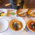 竹葉亭 - 鯛茶漬&鮪茶の鮪 <2013年03月訪問時>