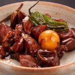 黒木屋 宮崎清武加納 - 甲府風鶏もつ煮です。