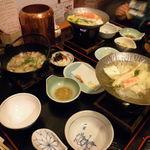 Sapporokaniya - かにぞうすい膳(すみません天麩羅食べた後です)