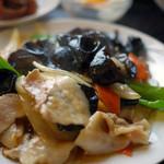 台湾料理 聚仙閣 - 料理写真:木耳と豚肉炒め~☆
