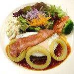 葡萄の木 - 料理写真:アメリカンハンバーグ