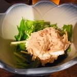 Shin‐和 dining - お通し(ささ身と水菜)
