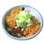 どんきゅう - みそかつ小丼350円・毎朝手打ちしたカツに自家製味噌ダレをかけました。セットもありますよ。