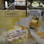 ハーブス 栄本店 - 名古屋 栄のHARBS(ハーブス)の2F外観。ショーケースにはホールケーキが並んでいます。注文分だけカットされます。ミルクレープをテイクアウト。 1cut730円 2013.4.7撮影