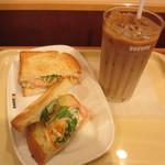 ドトールコーヒーショップ - 朝だけセットB・タラモサラダ ~シュゼットベーコン~ 380円