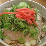 かっちゃんラーメンSP - ランチセットのとんこつラーメンとチャーシュー丼
