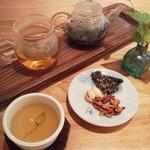 カフェ ハヌル - よもぎ茶