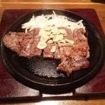 18252897 - サーロインステーキの鉄板焼き(1029円)