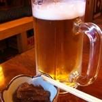 そば処 おく - 生ビール(中)