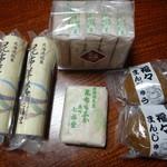 七福堂 - 料理写真:昆布羊羹350円・昆布もなか120円・福々饅頭100円