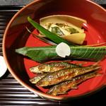 18256570 - 本もろこ、もろこ寿司、筍